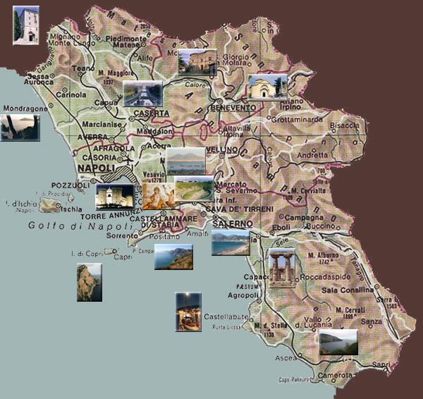 south italy map
