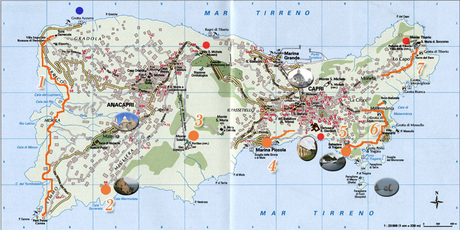 map of capri